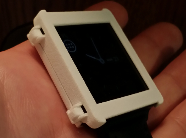 LG G Watch Snap Case in White Natural Versatile Plastic