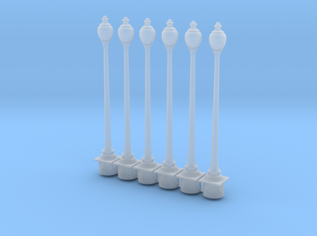 HO Scale Streetlight 01 x  6 in Smooth Fine Detail Plastic