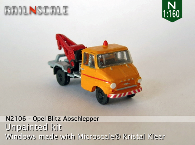 Opel Blitz A Abschlepper (N 1:160) in Smooth Fine Detail Plastic