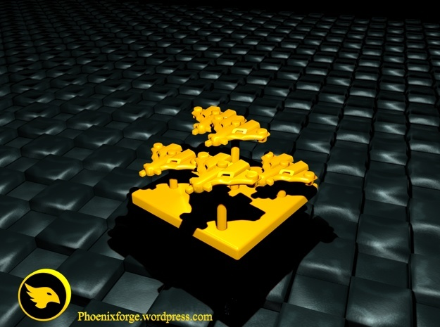 Tau Fighter Markers in Yellow Processed Versatile Plastic