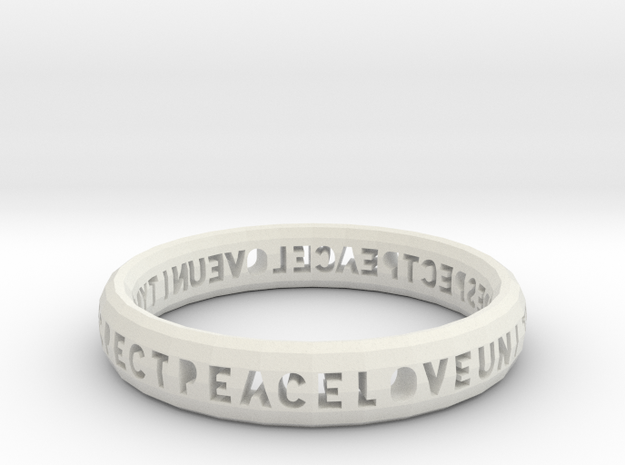 PLUR bangle in White Natural Versatile Plastic