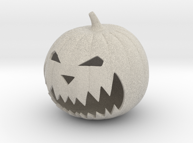 Halloween Pumpkin in Natural Sandstone