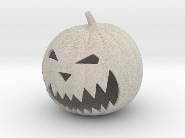 Halloween Pumpkin in Natural Sandstone