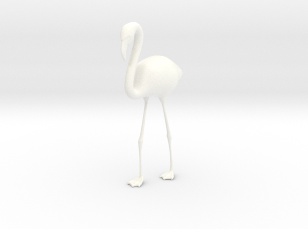 Flamingo - One Color  in White Strong & Flexible Polished