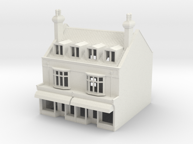 HHS-6 N Scale Honiton High street building 1:148 in White Strong & Flexible