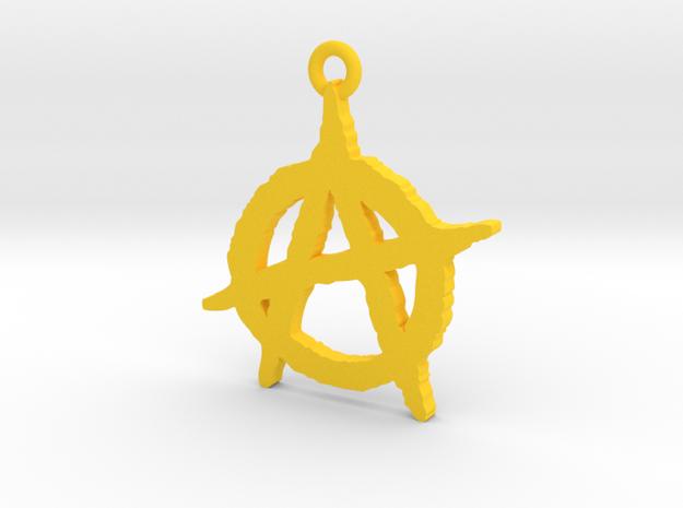 Anarchy Symbol Pendant 3d printed