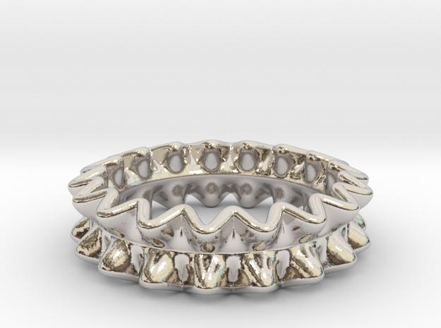 Rufflier Ring 3d printed