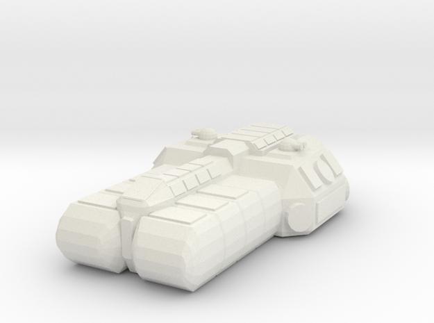 1/1000 Scale SoroSuub Nestt Light Freighter v2 in White Strong & Flexible