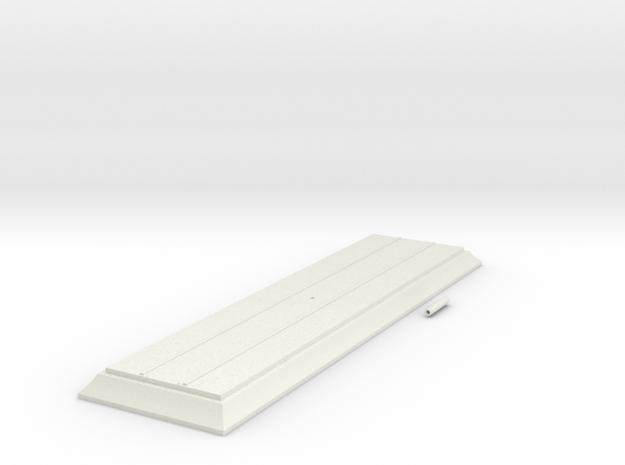 Base 225mm HO in White Natural Versatile Plastic