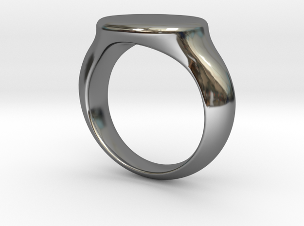 Silver Oval top Ring in Premium Silver