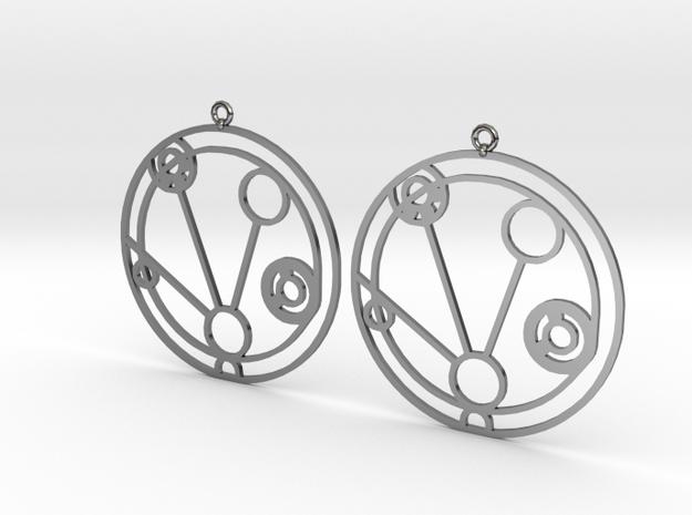 Mackenzie - Earrings - Series 1 in Fine Detail Polished Silver
