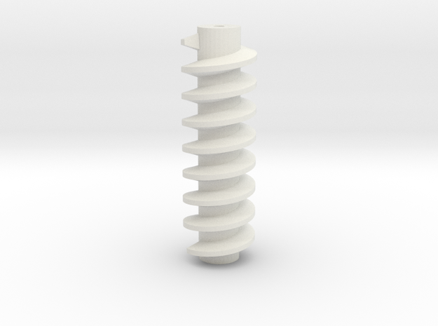 Worm Drive for hobby motors in White Natural Versatile Plastic
