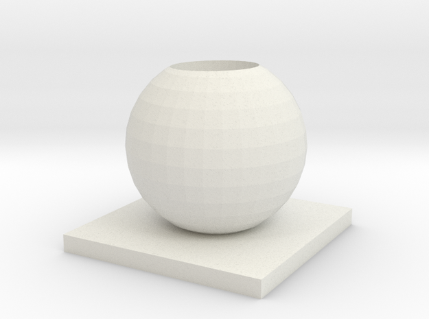 Vase 9 in White Strong & Flexible