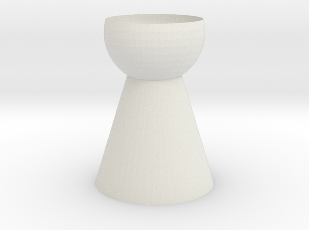 Vase 12 in White Strong & Flexible
