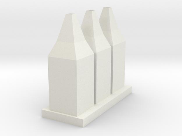 Vase 17 in White Natural Versatile Plastic