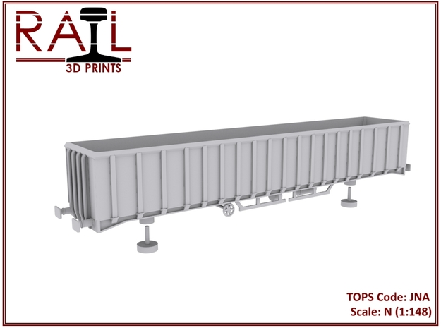 N Scale JNA Scrap Box in Smooth Fine Detail Plastic
