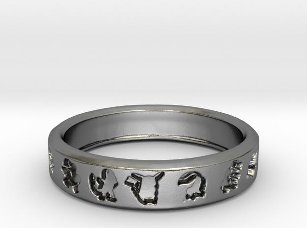 PokemonRing - Size 10 Test in Polished Silver