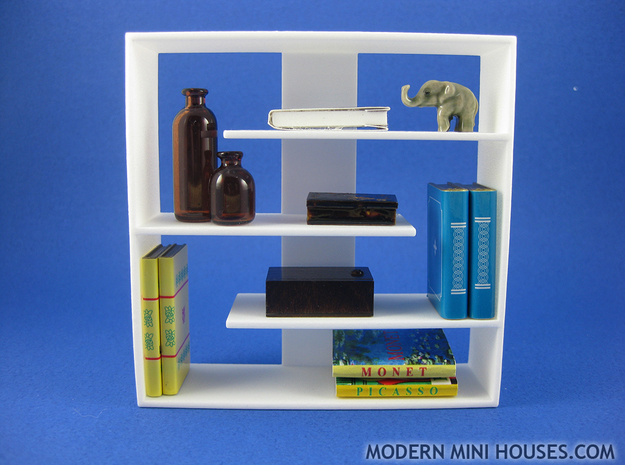Efficient 1:12 scale Bookshelf