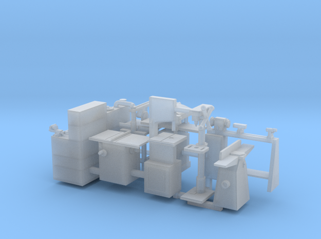 Woodworking machinery and Workbench HO Scale