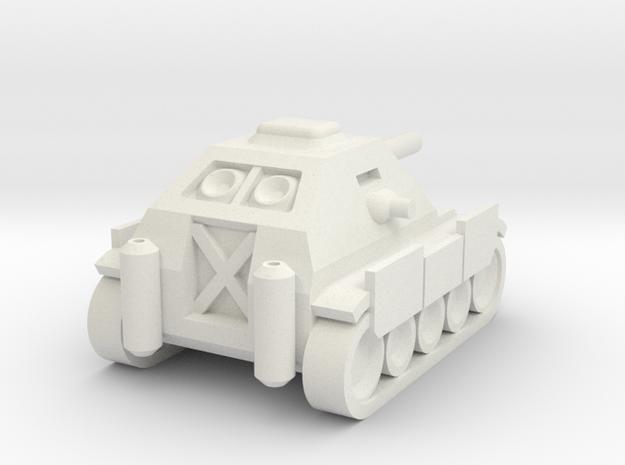 Jagdpanzer IV Mini in White Strong & Flexible