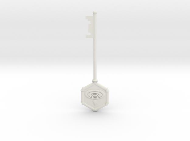 Resident Evil 0: Water key in White Natural Versatile Plastic