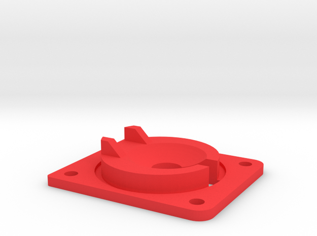 Reinforced Eject Saucer in Red Processed Versatile Plastic