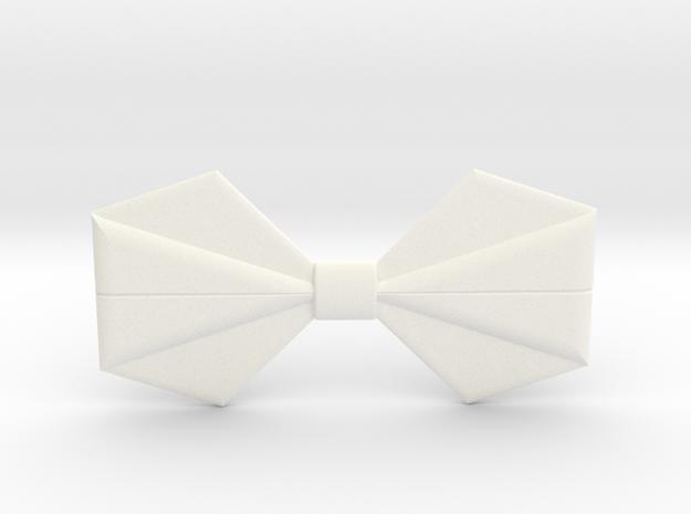 Origami Bow Tie in White Processed Versatile Plastic