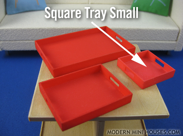 Square Tray Small 1:12 scale