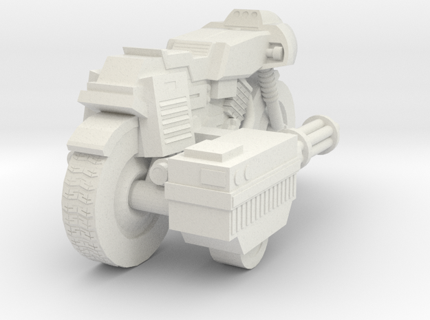 Bike RAM Small With Sidegun in White Natural Versatile Plastic