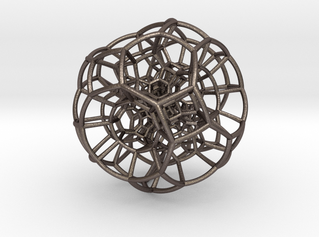 Polytope in Polished Bronzed Silver Steel