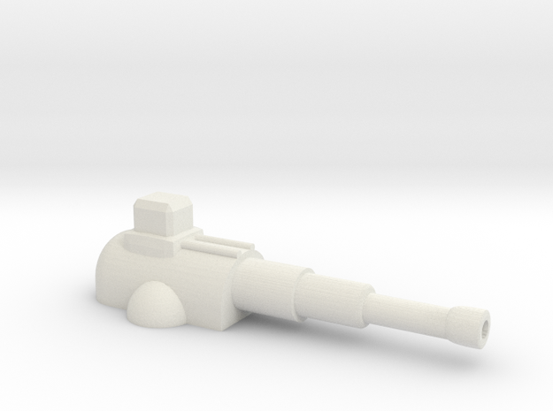 Heavy Cannon in White Natural Versatile Plastic