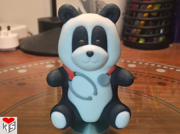 Dr Panda (8cm) in Full Color Sandstone