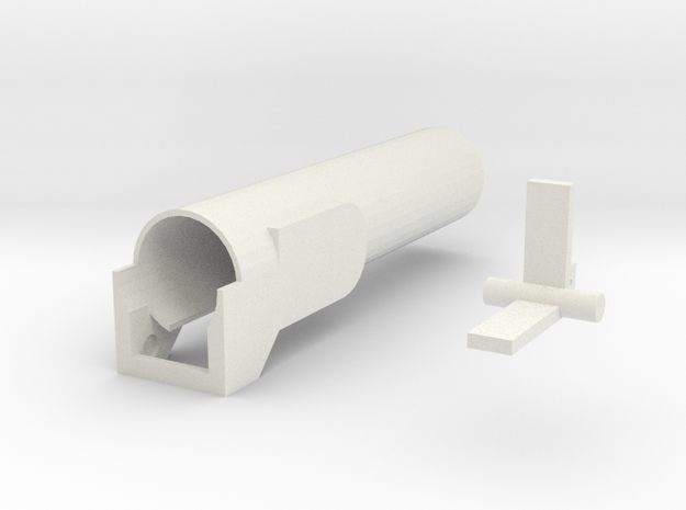 PaintBallDrop S in White Natural Versatile Plastic