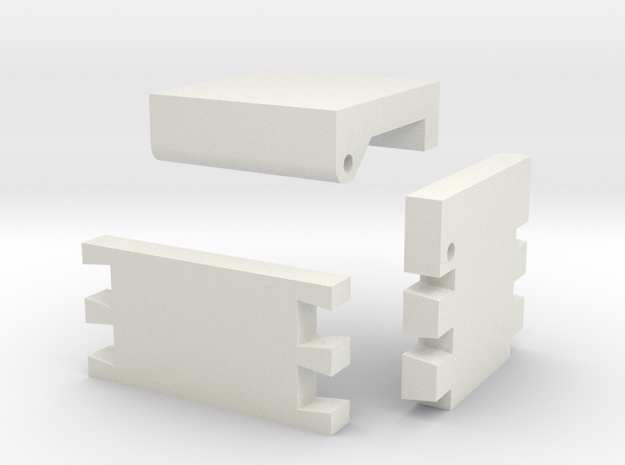 Template For Dovetail Jewelry Box in White Natural Versatile Plastic