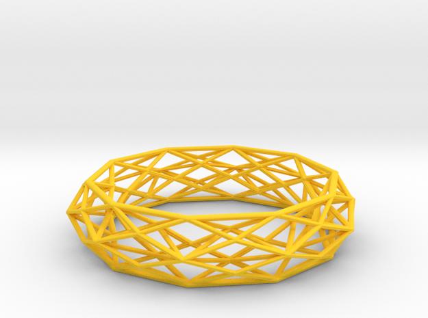 Bracelet Constructionist Sleek size L 3d printed