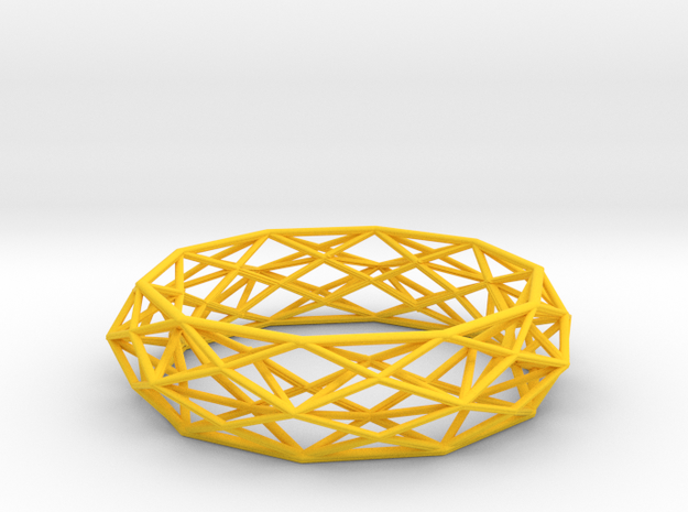 Bracelet Constructionist Sleek (size M) 3d printed