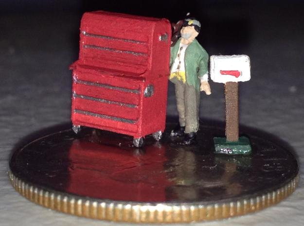 N Scale Tool Box FUD ONLY in Smooth Fine Detail Plastic