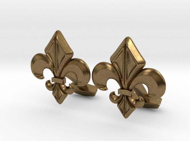Gothic Cufflinks in Natural Bronze