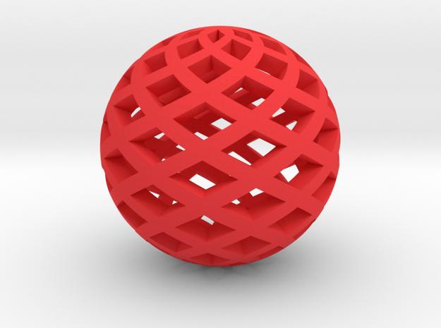 Sphere, Small in Red Processed Versatile Plastic