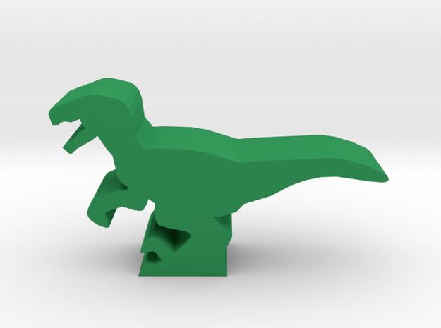 Dino Meeple, Velociraptor in Green Processed Versatile Plastic
