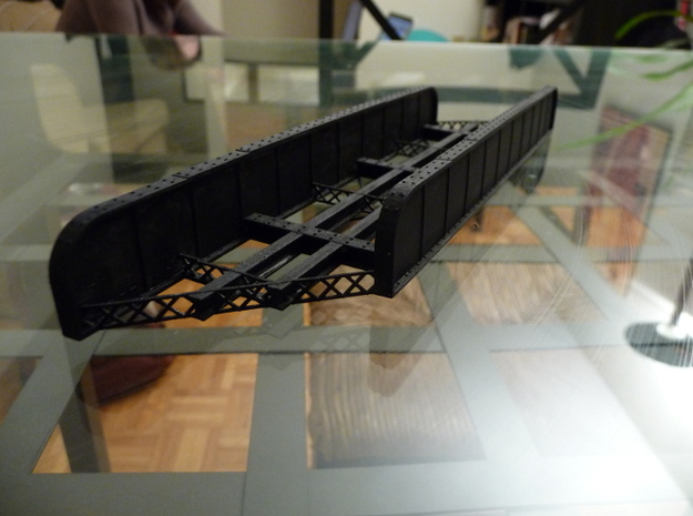n-scale bridge mono track right in Frosted Ultra Detail