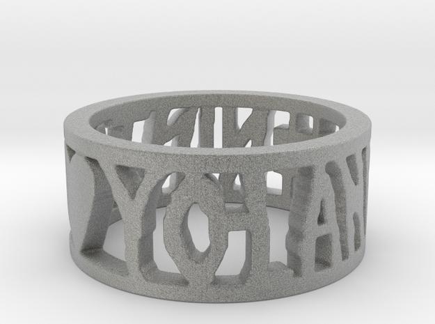 #NINJA <3 YO-LANDI Ring Size 4.5 in Metallic Plastic