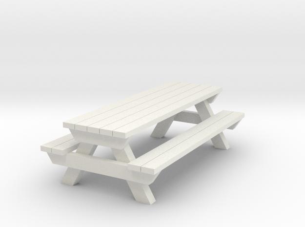 Picnic Table - G 22.5 : 1 scale  in White Natural Versatile Plastic