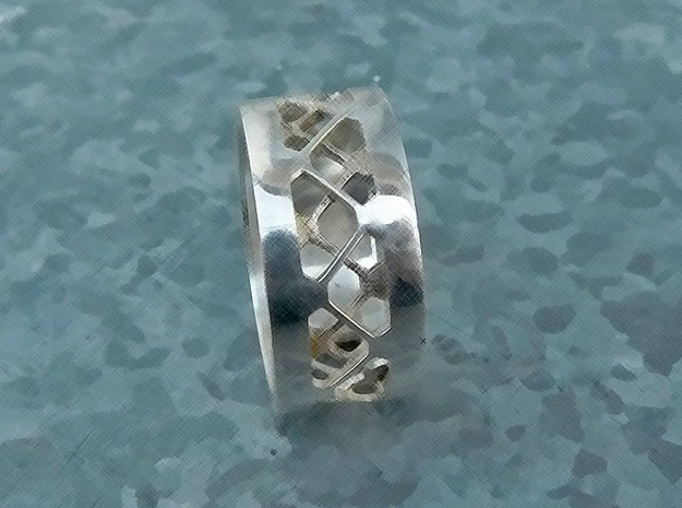Grid 12 US 1.8 mm in Natural Silver