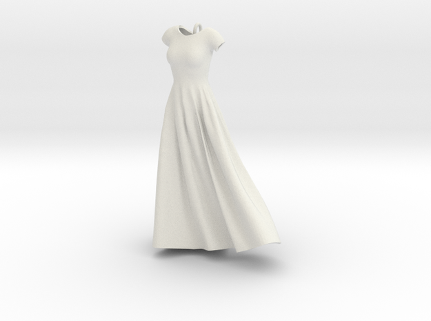 Wind Blown Gown in White Strong & Flexible