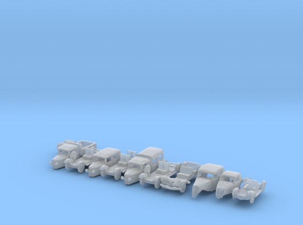 SET French and Italian 1930s cars (N 1:160) 3d printed