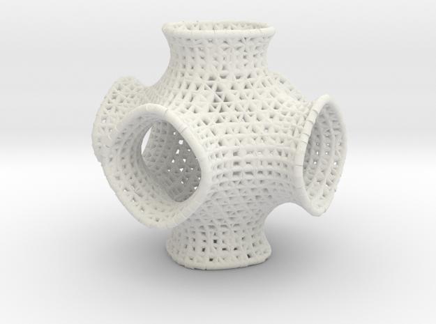Swarctz math art in White Natural Versatile Plastic