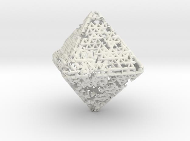 Octahedron math art in White Natural Versatile Plastic