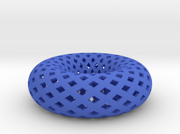Torus, Small in Blue Processed Versatile Plastic