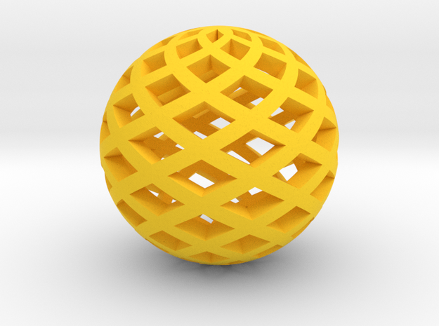 Sphere in Yellow Processed Versatile Plastic